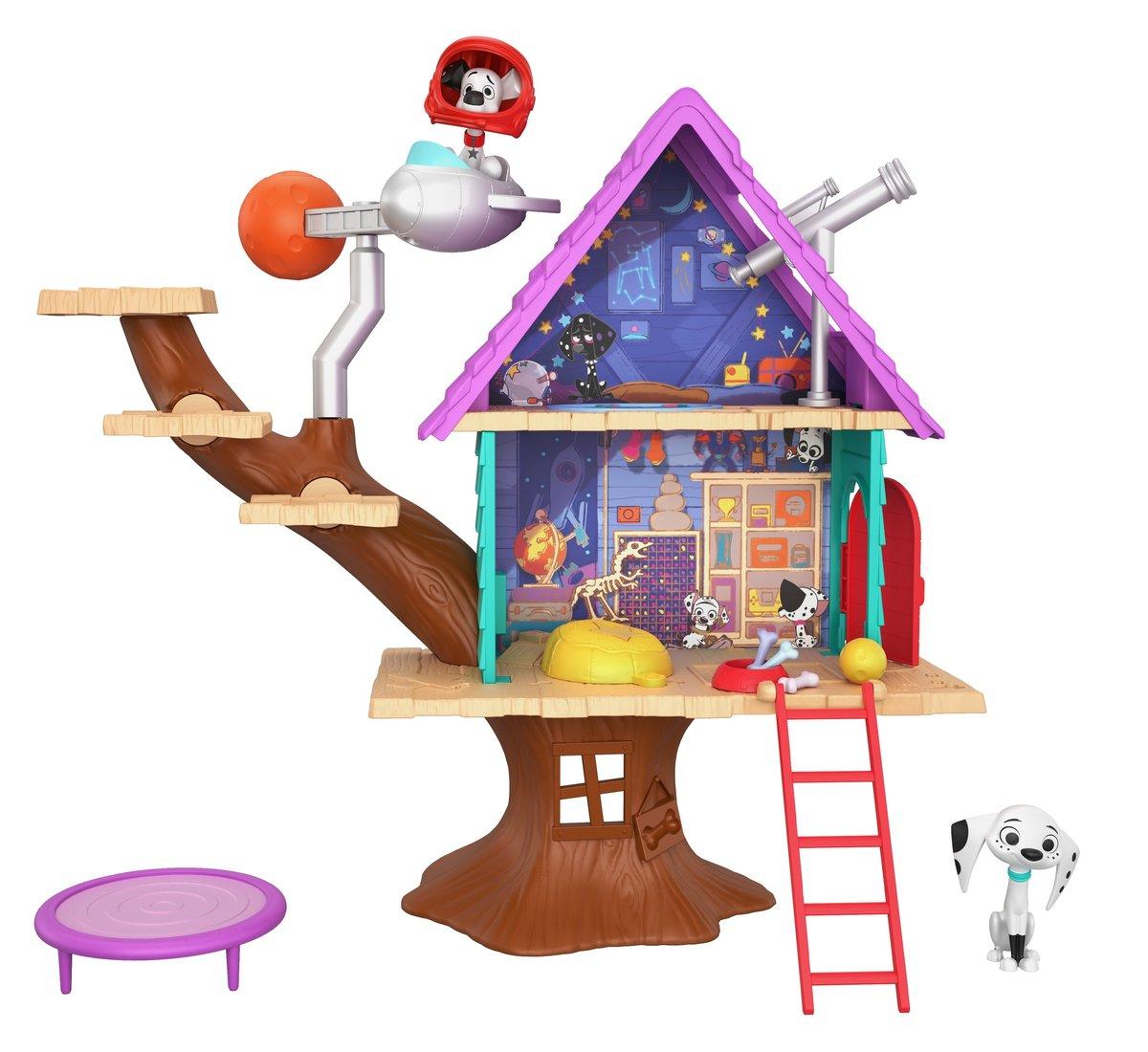 101 Dalmatyńczyków, domek na drzewie Dylana, zestaw - Mattel