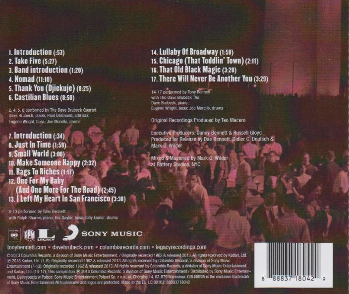 White House Sessions Live 1962 Bennett Tony Muzyka