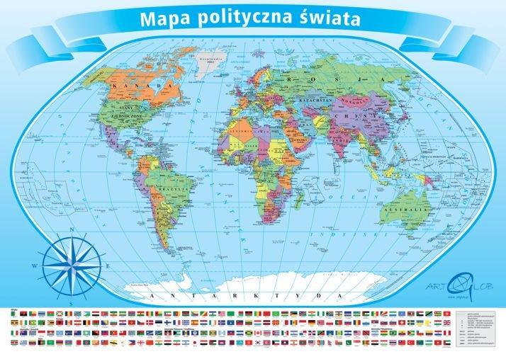 Mapa Polityczna Swiata Puzzle Edukacyjne Opracowanie Zbiorowe