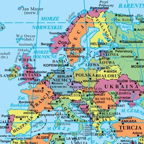 Mapa polityczna świata. Puzzle edukacyjne - Opracowanie zbiorowe  Książka w ...