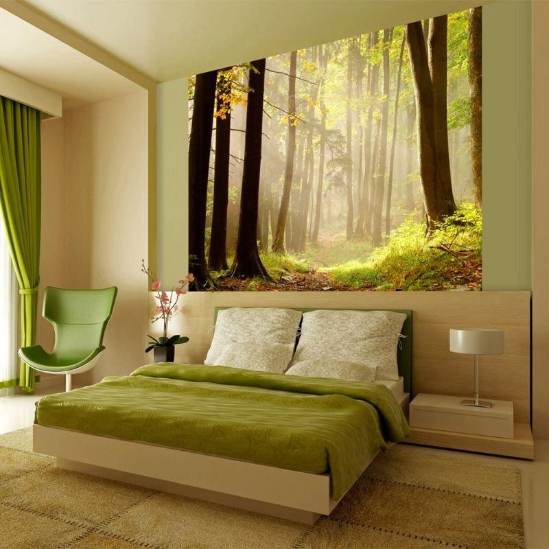 Murando fototapeta mysterious forest path 350x270 cm for Poster murali giganti