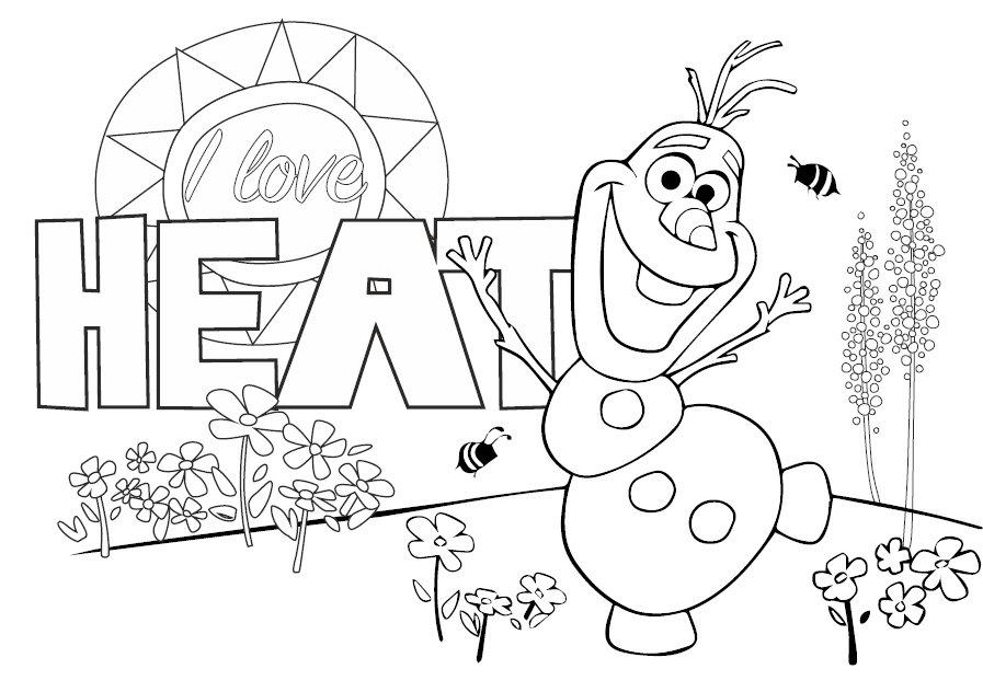 Disney, Kraina Lodu, koszulka do kolorowania Olaf - Disney  Sklep EMPIK.COM