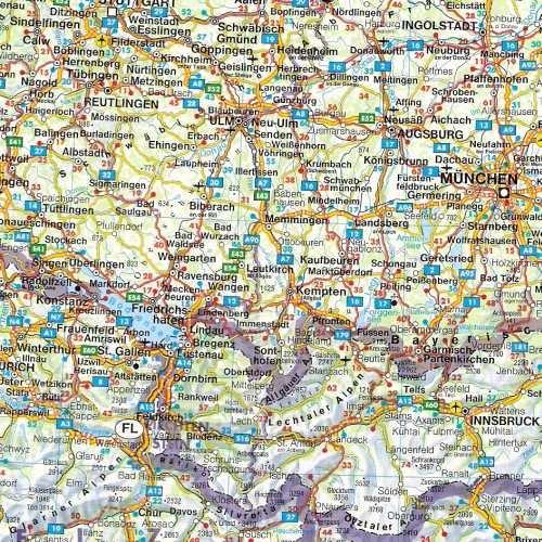 Europa Srodkowa Mapa Samochodowa 1 2 000 000 Ksiazka W
