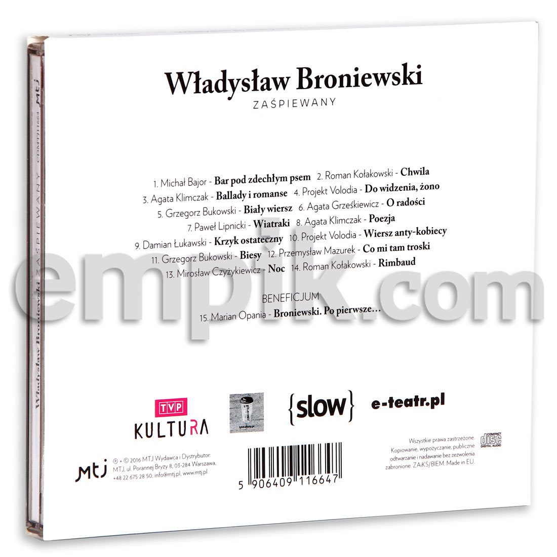 Empik Prezentuje Dobre Piosenki Władysław Broniewski Zaśpiewana
