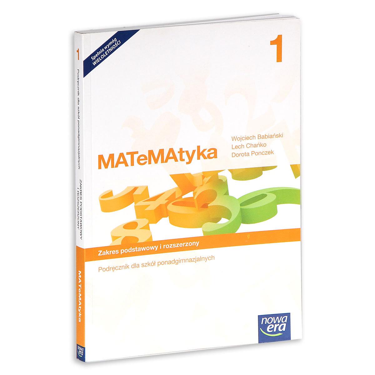matematyka 1 zakres podstawowy i rozszerzony podręcznik