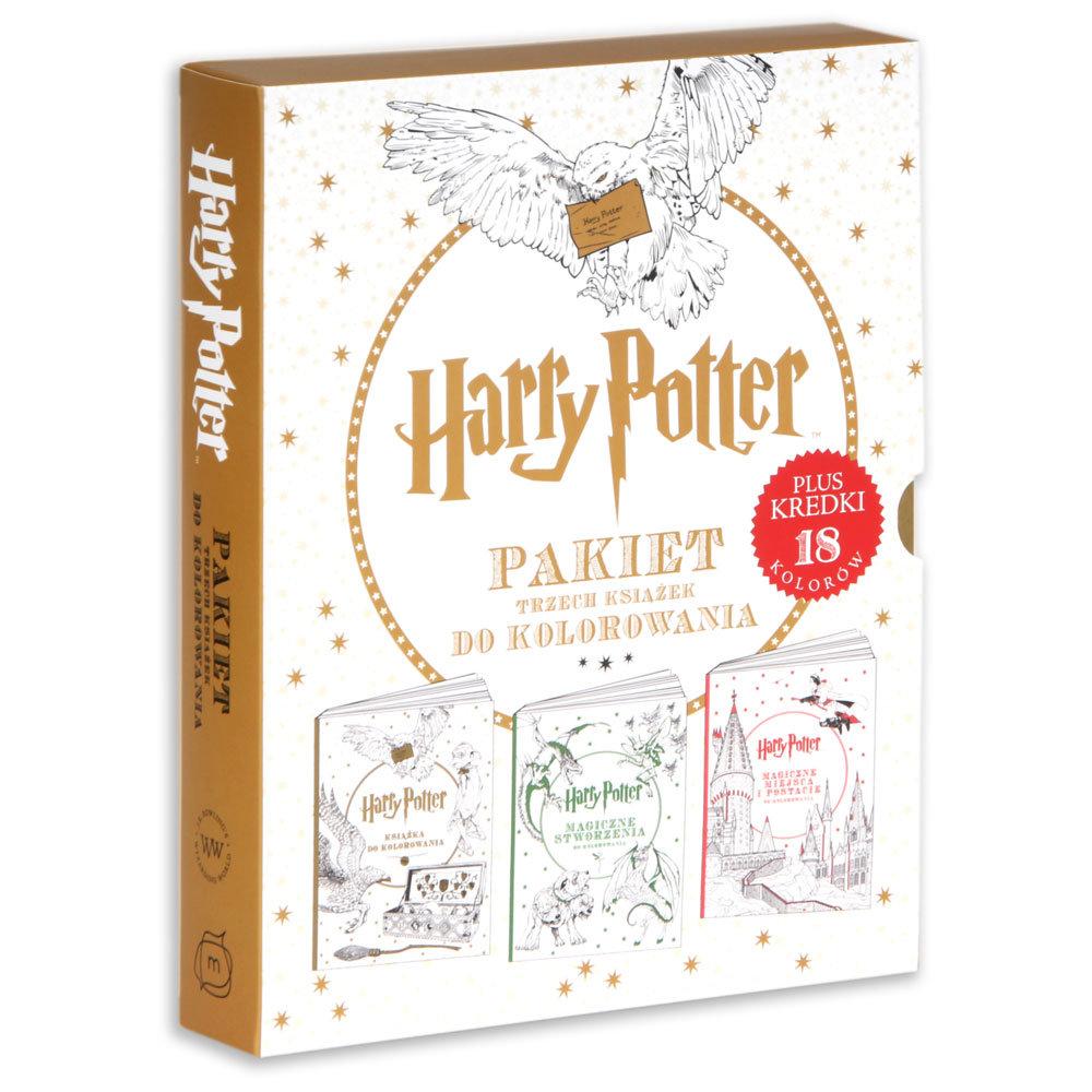 Harry Potter Pakiet Trzech Ksiazek Do Kolorowania Opracowanie Zbiorowe Ksiazka W Sklepie Empik Com