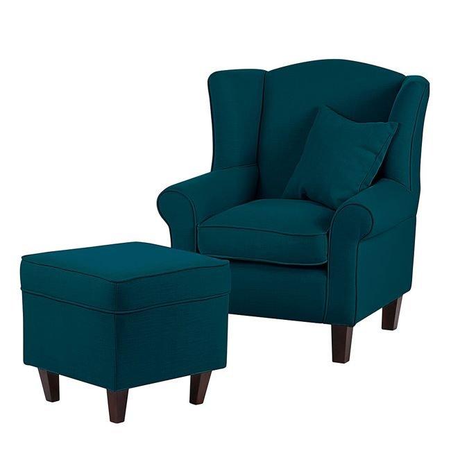 Nowoczesny Fotel Scandinavian Style Design Wygodne Fotele West Turkusowy