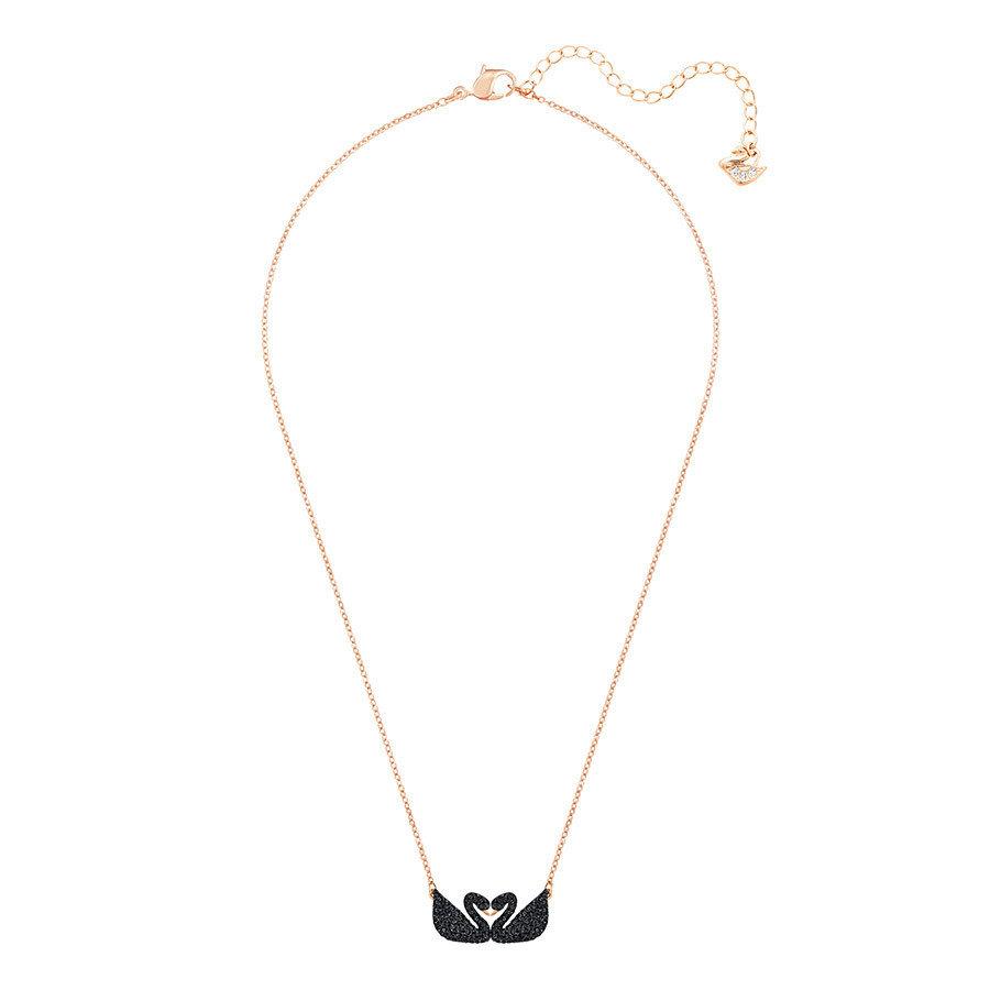 218e67f20 Swarovski, Naszyjnik, Iconic Swan Double Necklace, Black, 5296468 ...