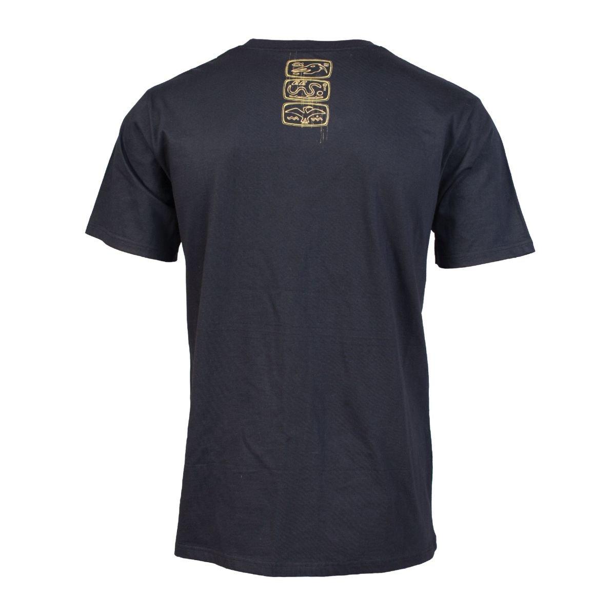 Czarny męski podkoszulek z egipskiej bawełny w Koszulki i t