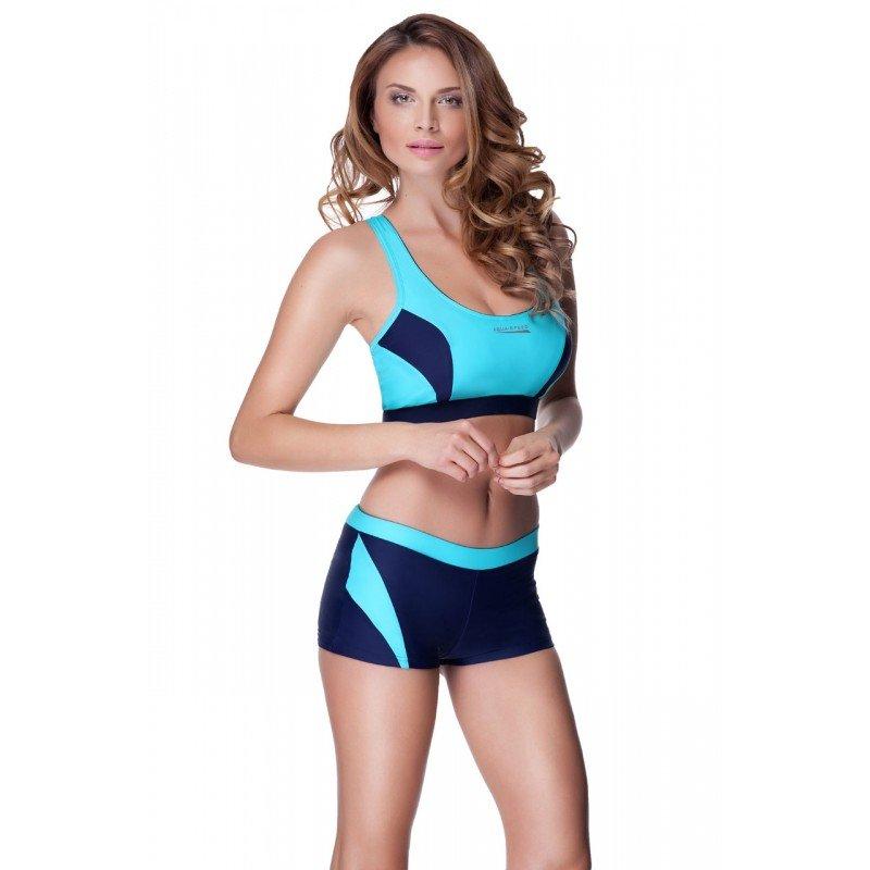 Aqua Speed, Strój kąpielowy dwuczęściowy, Fiona, błękitny, rozmiar 38