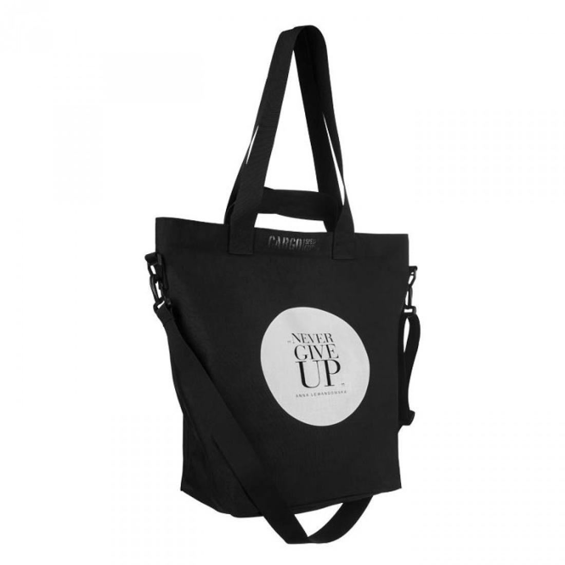 HPBA Torba Cargo, czarna + Lunch box na sałatki, 15x15x9,5 cm