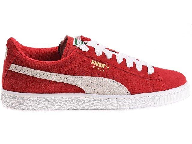 Czerwone Zamszowe Buty Sportowe Puma rozmiar 36