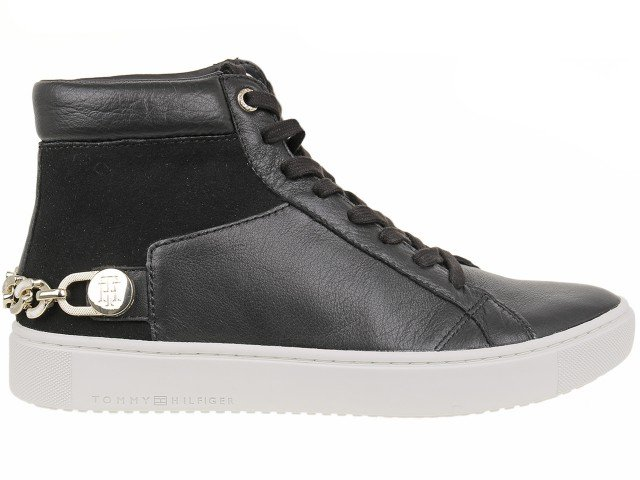 Tommy Hilfiger Buty damskie, Mid City Sneaker Black, rozmiar 37