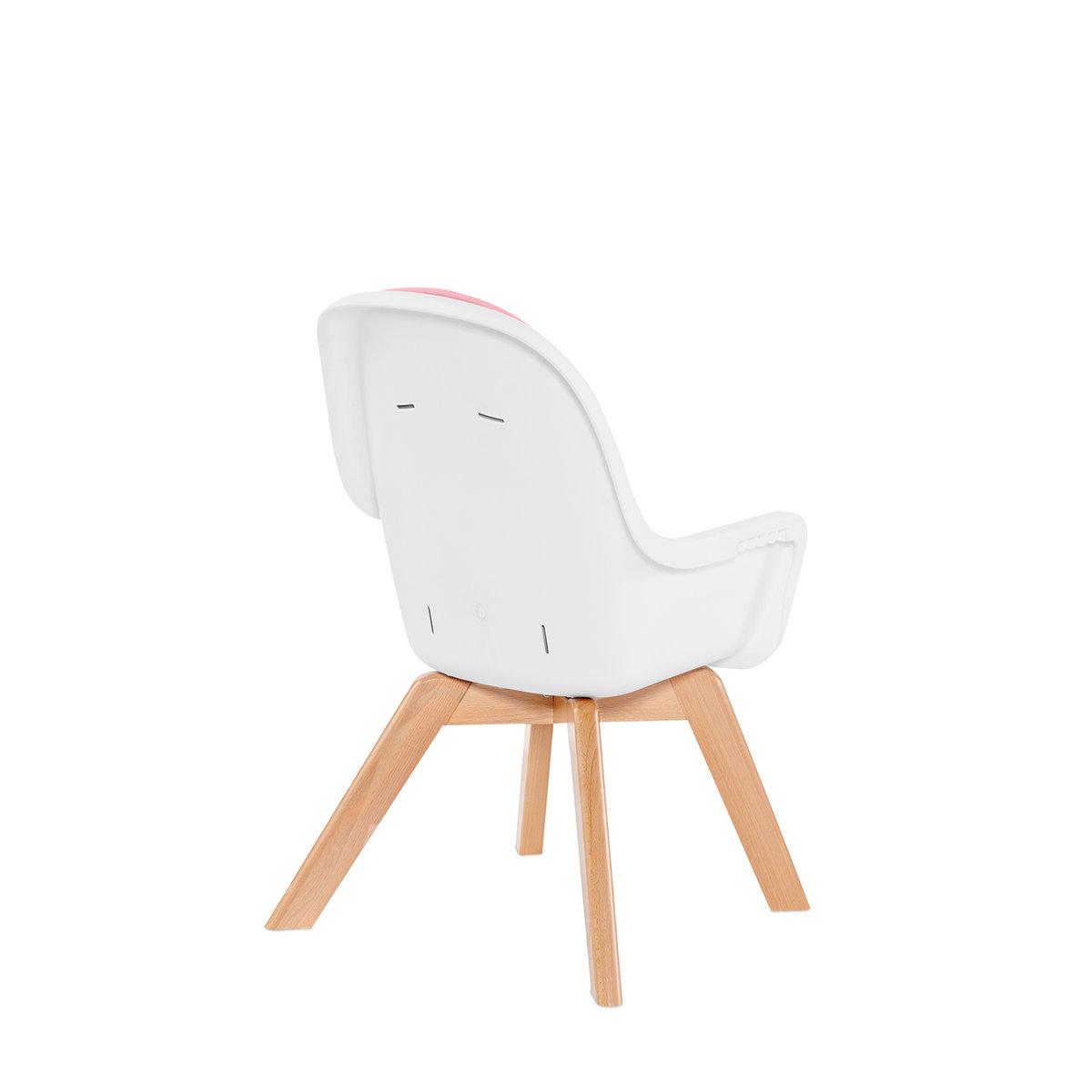 Krzesełko do karmienia Kinderkraft TIXI 2w1 drewno + gratis
