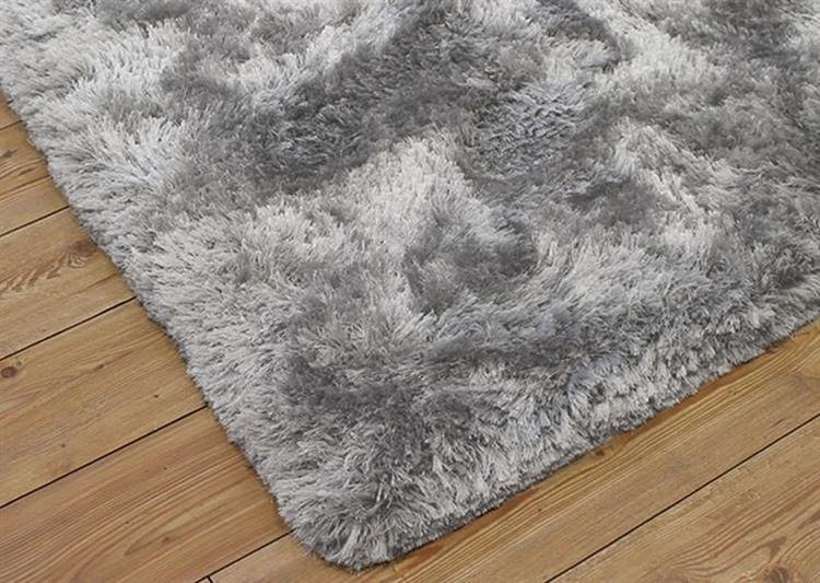 Dywan shaggy STRADO SilverFur, jasny szary, 120x160 cm