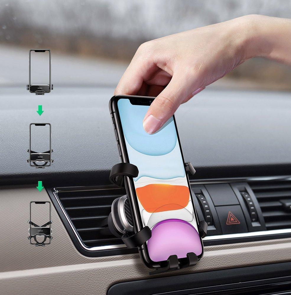 Ugreen samochodowy uchwyt grawitacyjny na telefon czarny (80871) - uGreen |  Sklep EMPIK.COM