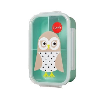 3 Sprouts, Lunchbox, Bento, Sowa, Miętowy-3 Sprouts