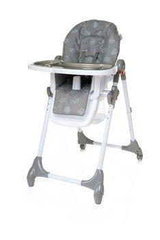 4Baby, Decco, Krzesełko do karmienia, Grey-4 Baby