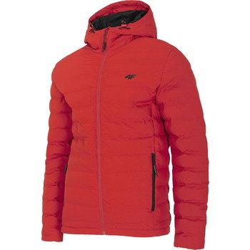 4F, Kurtka zimowa męska, H4Z20-KUMP006 62S, czerwony, rozmiar M-4F