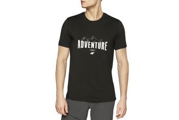 4F Men's Functional T-shirt H4L20-TSMF060-20S, Męskie, t-shirt, Czarny-4F