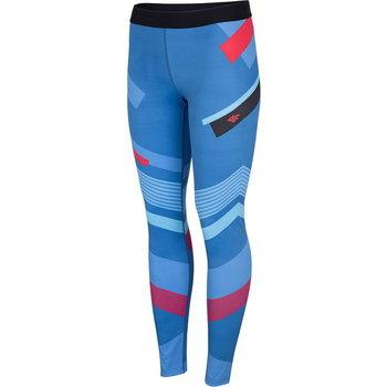 4F, Spodnie damskie, H4L20-SPDF006 90A, niebieski, rozmiar L-4F