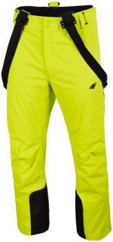 4F, Spodnie męskie narciarskie, H4Z19-SPMN012 45S, zielony, rozmiar M-4F