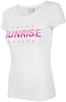 4F, T shirt damski, H4L19 TSD015 10S, biały, rozmiar S