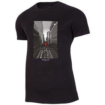 4F, T-Shirt, H4Z20-TSM020 20S, czarny, rozmiar M-4F
