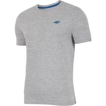 4F, T-shirt męski, H4L19-TSM002 27M szary, rozmiar L-4F