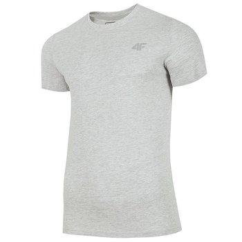 4F, T-Shirt męski, NOSH4-TSM003 27M, szary, rozmiar M-4F