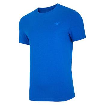 4F, T-Shirt męski, NOSH4-TSM003 36S, niebieski, rozmiar L-4F