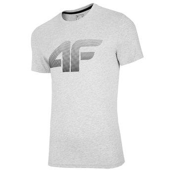 4F, T-Shirt męski, NOSH4-TSM004 27M, szary, rozmiar L-4F
