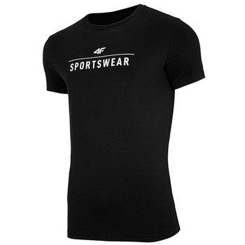 4F, T-Shirt męski, NOSH4-TSM005 20S, czarny, rozmiar M-4F