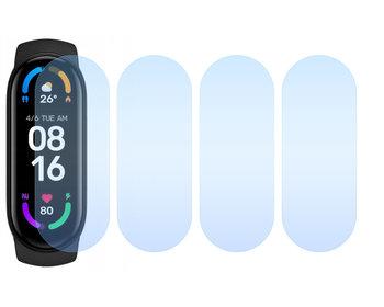 4x Folia hydrożelowa do Xiaomi Mi Band 6 - apgo Smartwatch Protection Ochrona na ekran smartwatcha-apgo nie pęka.