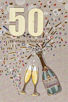 50 urodziny kartka laurka M 599-Maja