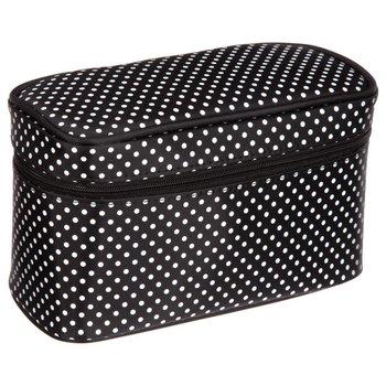 5five Simple Smart, kosmetyczka wyjazdowa damska czarna z białe kropki, 1 szt.-5five Simple Smart
