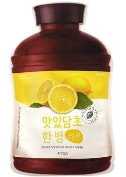 A'Pieu, Fruit Vinegar, nawilżająco-rozjaśniająca maseczka w płachcie Lemon, 25 g-A'Pieu
