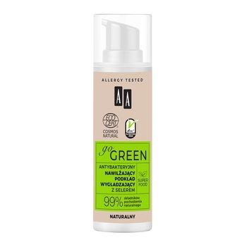 AA, Go Green, antybakteryjny nawilżający podkład wygładzający z selerem naturalny, 30 ml-AA