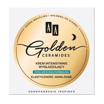 AA, Golden Ceramides, krem intensywnie wygładzający do cery mieszanej i normalnej, 50 ml-AA