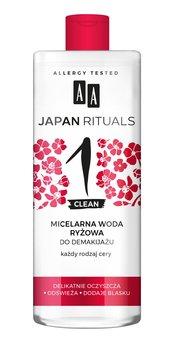 AA, Japan Rituals, micelarna woda ryżowa do demakijażu - każdy rodzaj cery, 400 ml-AA