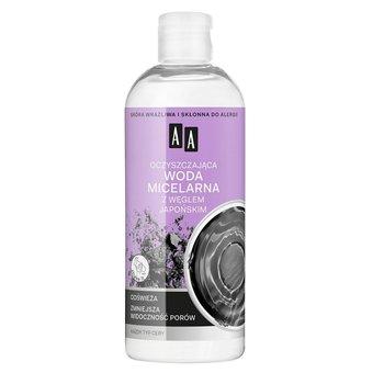 AA, Skin Food, oczyszczająca woda micelarna z węglem japońskim do każdego typu cery, 400 ml-AA