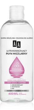 AA Ultra-nawilżający płyn micelarny Formuła Biozgodności, Cera sucha/wrażliwa, 400 ml-AA