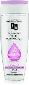 AA, Witaminowy tonik regenerujący Formuła Biozgodności, Cera sucha/wrażliwa, 200 ml-AA