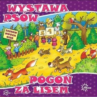 Abino, Pogoń za lisem + Wystawa psów, zestaw dwóch gier planszowych - Abino