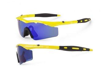 Accent Okulary sportowe przeciwsłoneczne CHICO, żółte, niebieskie -Accent