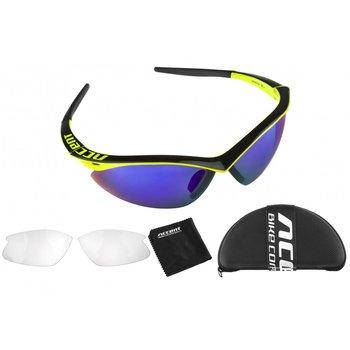 Accent Okulary sportowe przeciwsłoneczne Shadow, żółte, czarne, niebieskie-Accent
