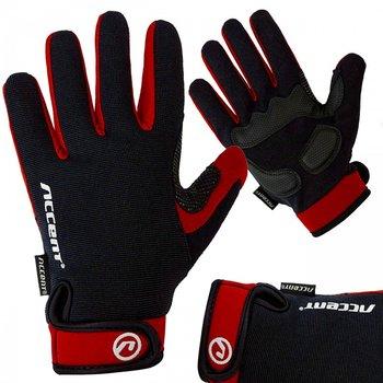 Accent, Rękawiczki rowerowe, BORA LONG, czerwony, rozmiar M-Accent