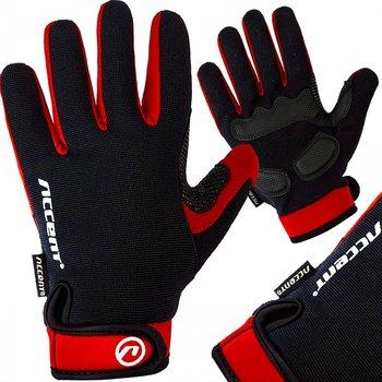 Accent, Rękawiczki rowerowe, BORA LONG, czerwony, rozmiar XL-Accent