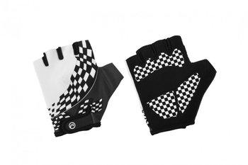 Accent, Rękawiczki rowerowe dziecięce, Tommy, czarno-białe, rozmiar L/XL-Accent
