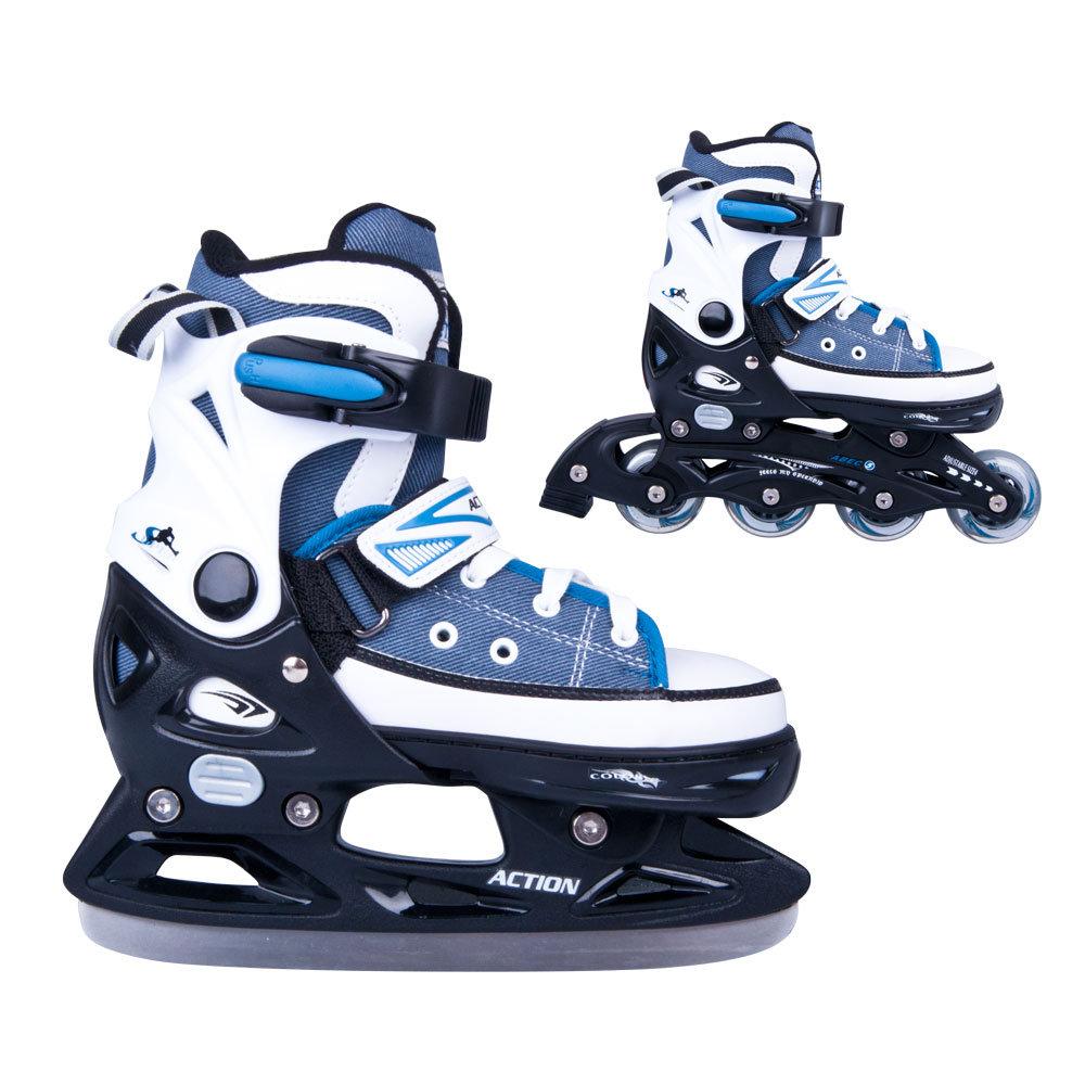 Action, Łyżworolki regulowane, Gondo, rozmiar 33-36, zestaw - Action   Zabawki Sklep EMPIK.COM